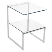 Lumisource TB-6G-SS 6G End Contemporary Table in Clear