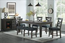 VH-9800-6PC 6 pc Gracie oaks industrial charms charcoal grey finish wood dining table set
