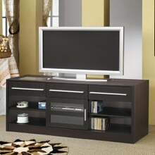 Coaster 700650 Espresso finish wood tv stand entertainment center with storage drawers and built in connect it drawer