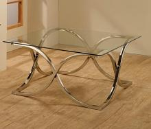 701918 Wildon home orren ellis nickel finish metal and glass coffee table