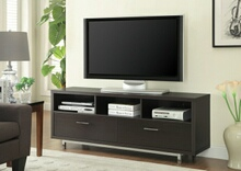 "701973 Varick gallery oldsmar espresso finish wood 60"" tv stand with drawers"