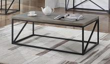 705618 Gracie oaks mckay sonoma grey finish wood and black finish metal frame coffee table