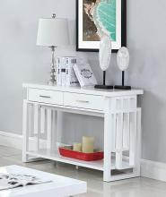 705709 Orren ellis braud modern artistic glossy white sofa console entry table