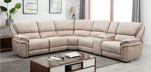 GU-7098BG-6PCPWR 6 pc Latitude run kalista beige chenille fabric power reclining sectional sofa set