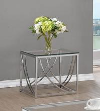 720497 WIlla arlo interiors mckenzie chrome finish metal and glass end table