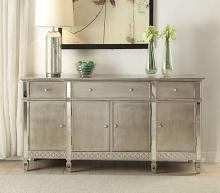 Acme 72158 Kacela champagne finish wood mirror accents server buffet console cabinet