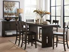 Acme 72220-22 7 pc Haddie distressed walnut finish wood counter dining table set