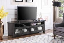 "722223 Canora grey armenta dark grey finish wood 72"" tv stand console"