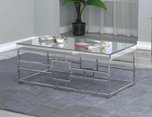 723078 Orren ellis enjoy mirrored top and chrome metal frame coffee table