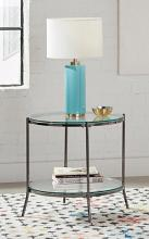 723267 Wildon home orren ellis black nickel glass top round end table