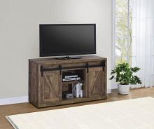 "723271 Gracie oaks rustic oak finish wood farmhouse 48"" tv stand with sliding doors"
