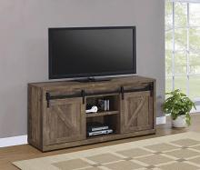 "723272 Gracie oaks rustic oak finish wood farmhouse 59"" tv stand with sliding doors"