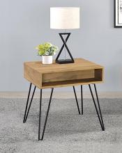723367 Wildon home red barrel studio golden oak finish wood end table