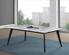 723578 Wildon home orren ellis black frame white faux marble top coffee table