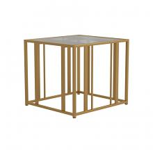 723607 Wildon home orren ellis matte brass finish metal glass top end table