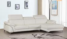 727WH-2PC-SECT 2 pc Orren ellis luigi divanitalia whiteitalian leather sectional sofa with chaise