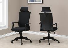 OFFICE CHAIR - BLACK / BLACK FABRIC / HIGH BACK EXECUTIVE