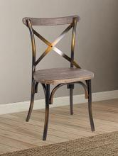 Acme 73077 Zaire antique copper finish metal frame dining chair