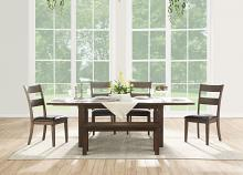 Acme 73160-62-63 6 pc Nabirye dark oak finish wood dining table set