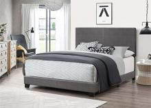 7565 Home source regents gray faux leather queen bed set