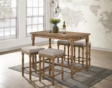 Acme 77175-77 5 pc Wildon home farsiris weathered oak finish wood counter height dining table set