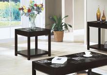 ACCENT TABLE - ESPRESSO VENEER