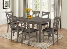 7812-7PC  7 pc Gracie oaks sisko gray finish wood dining table set