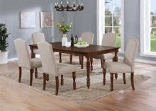7836-7PC  7 pc Winston porter salamanca brown finish wood dining table set