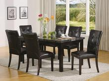 7849-7763-7PC 7 pc Winston porter moerlein espresso finish wood faux marble top dining table set