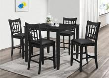 7855-5PC 5 pc Winston porter charlene black finish wood counter height dining table set