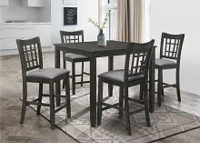 7857-5PC 5 pc Winston porter charlene ash black finish wood counter height dining table set