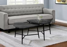 TABLE SET - 2PCS SET / BLACK RECLAIMED WOOD / BLACK METAL