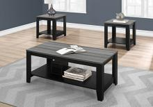 TABLE SET - 3PCS SET / BLACK / GREY TOP