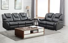 GU-7993DG-2PC 2 pc Red barrel studio dark gray leather aire reclining sofa and love seat set