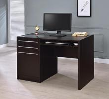 """800702 Orren ellis harling halston espresso finish wood 48"""" office desk with drawer unit"""