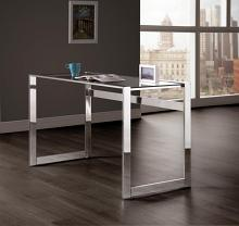 800746 Corrigan studio clear glass top and chrome metal frame student writing desk