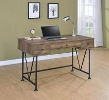 802541 17 stories rosina analiese rustic oak finish wood and black metal frame writing desk