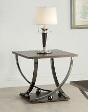 Acme 80357 Latitude run rossana isiah black nickel finish metal frame chair side end table