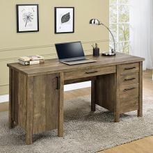 803581 Foundry select chanson tolar rustic oak finish wood desk with drawers