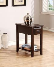Acme 80518 Flin dark cherry finish wood chair side end table with drawer