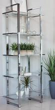 805538 Wade logan ebern designs polished chrome metal finish shelf unit with glass shelves
