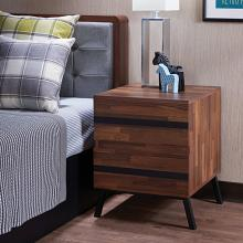 Acme 80622 Karine walnut and black finish wood 2 drawer nightstand bed side end table