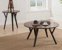 Acme 80665 3 pc Foundry select boger scaevola oak finish wood black metal frame coffee and end table set