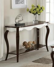 Acme 80684 Mathias white and walnut finish wood sofa entry console table