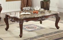 Acme 81050 Astoria grand tunstall shalisa walnut finish wood marble top coffee table
