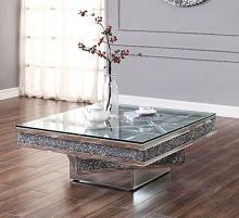 Acme 81465 Rosdorf park lippa Noralie mirrored faux diamond square glass top coffee table