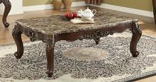 Acme 81685 Astoria grand mccloud devayne dark walnut finish wood marble top coffee table