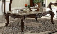 Acme 81695 Mehadi walnut finish wood marble top coffee table