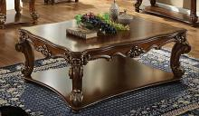 Acme 82000 Astoria grand esmeralda vendome cherry finish wood carved accents rectangular coffee table