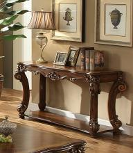 Acme 82004 Vendome cherry finish wood carved accents sofa entry console table
